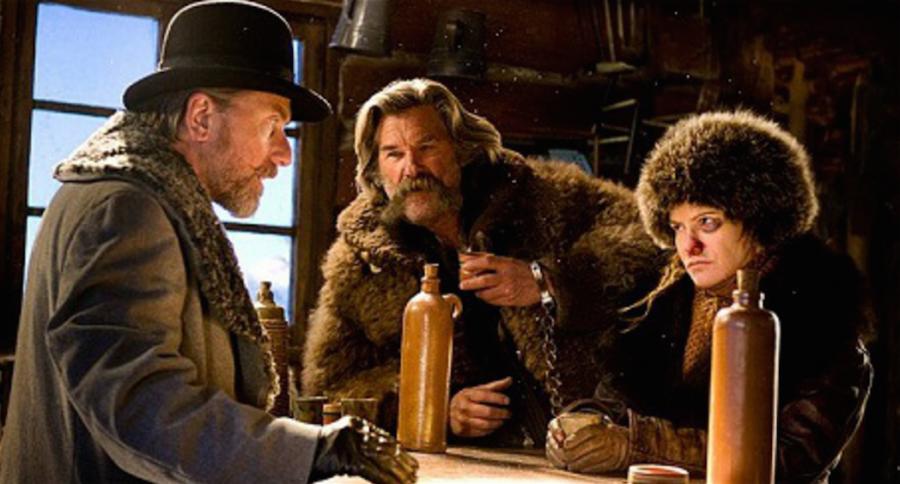 From Left To Right: Tim Roth, Kurt Russel, Jennifer Jason Leigh
