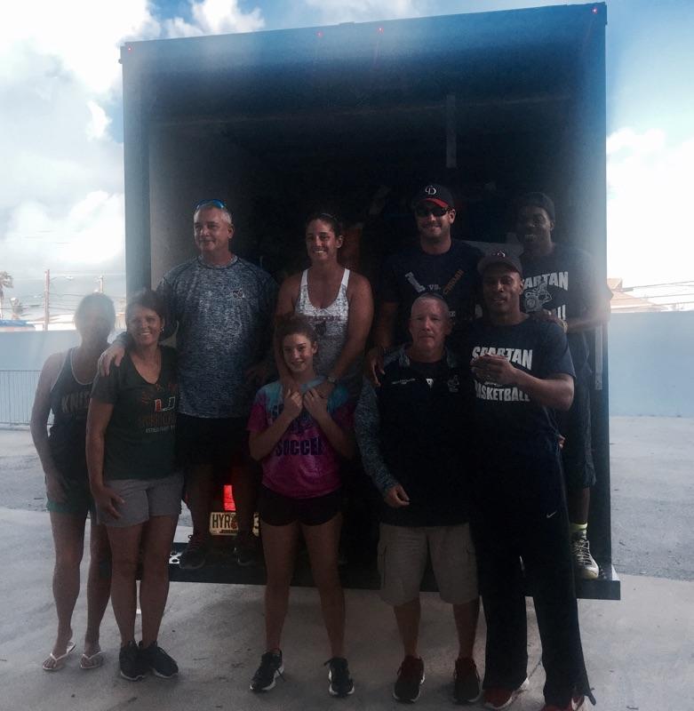 A Spartan truck full of supplies for Marathon High School Irma survivors.