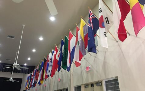 Diversity at MCDS is represented by flags from student nations.
