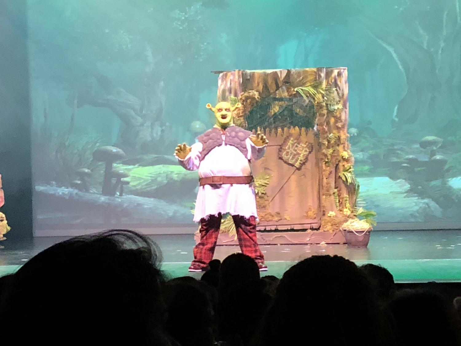 Shrek Opens to Full House. Benjamin Hug as the lovable ogre.
