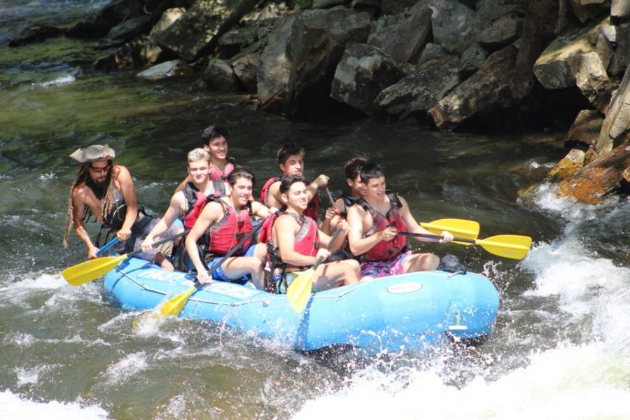 Seniors rafting was part of the fun!