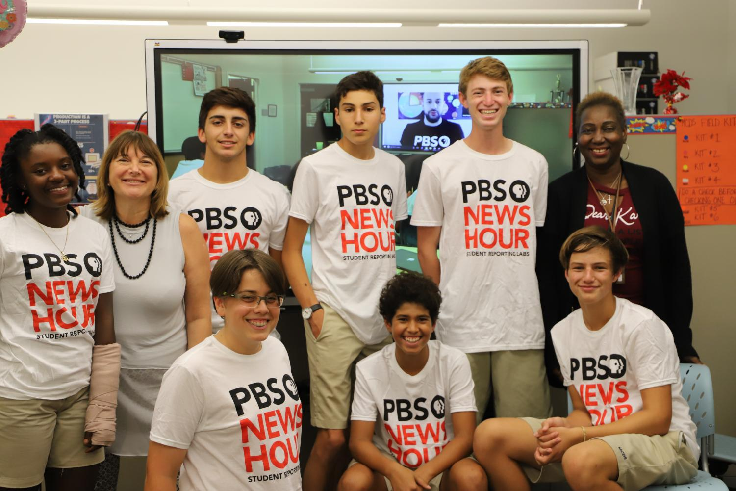 Student journalists working with PBS Student Reporting Labs