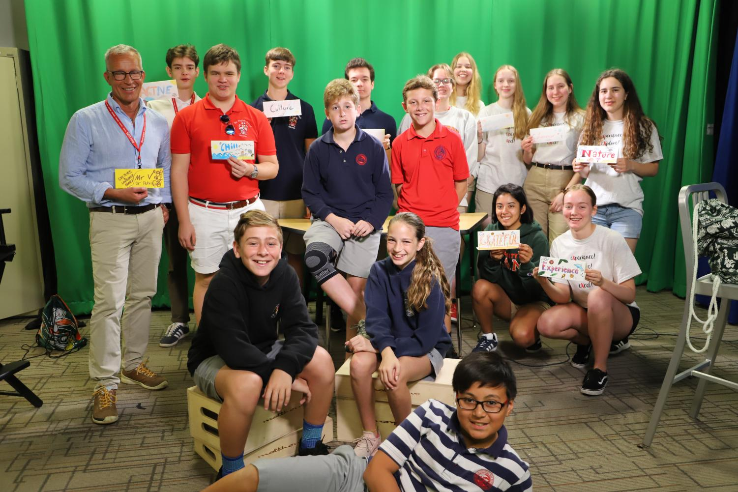Finnish exchange students mix it up with middle schoolers in the studio