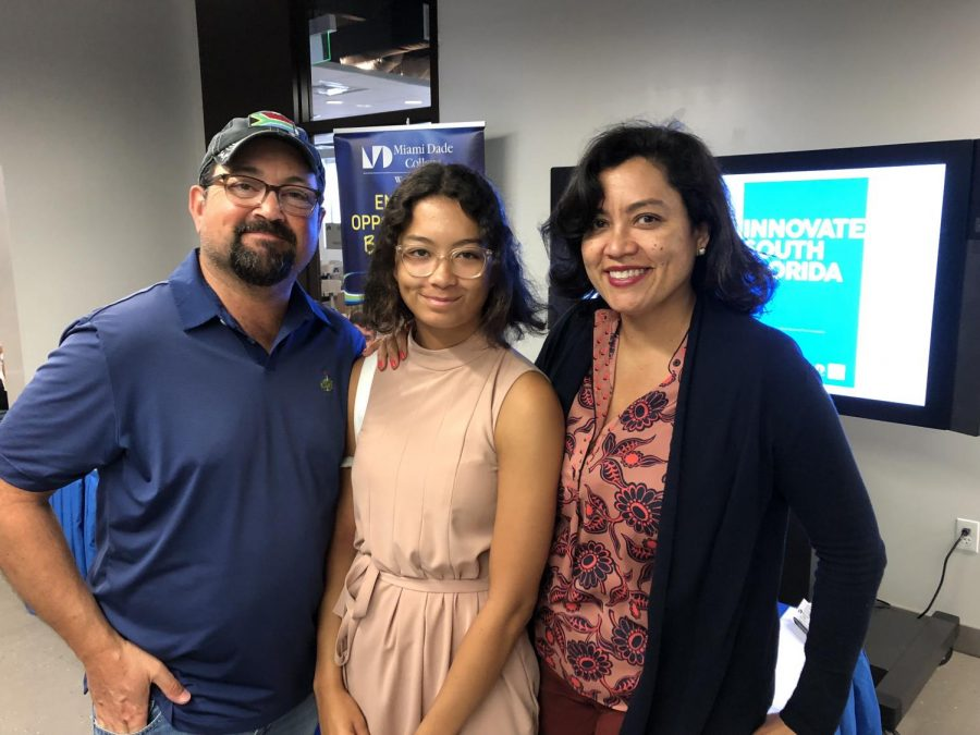 Sofia and her parents at Innovate South Florida