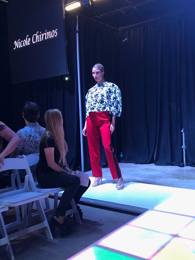 One of Chirinos' designs on the runway at her graduation fashion show.