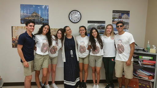 Madame with her 2017-2018 AP French Students