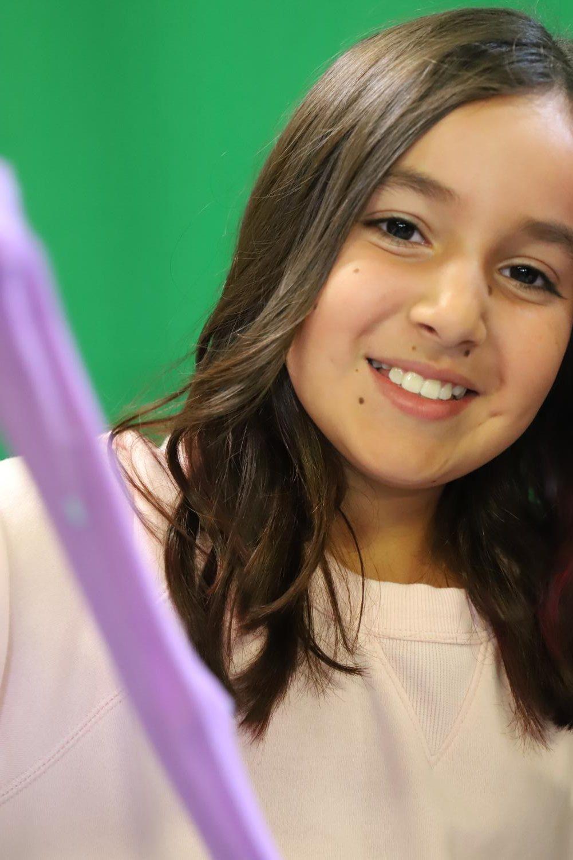 Young entrepreneur Isabella Pinzon sells
