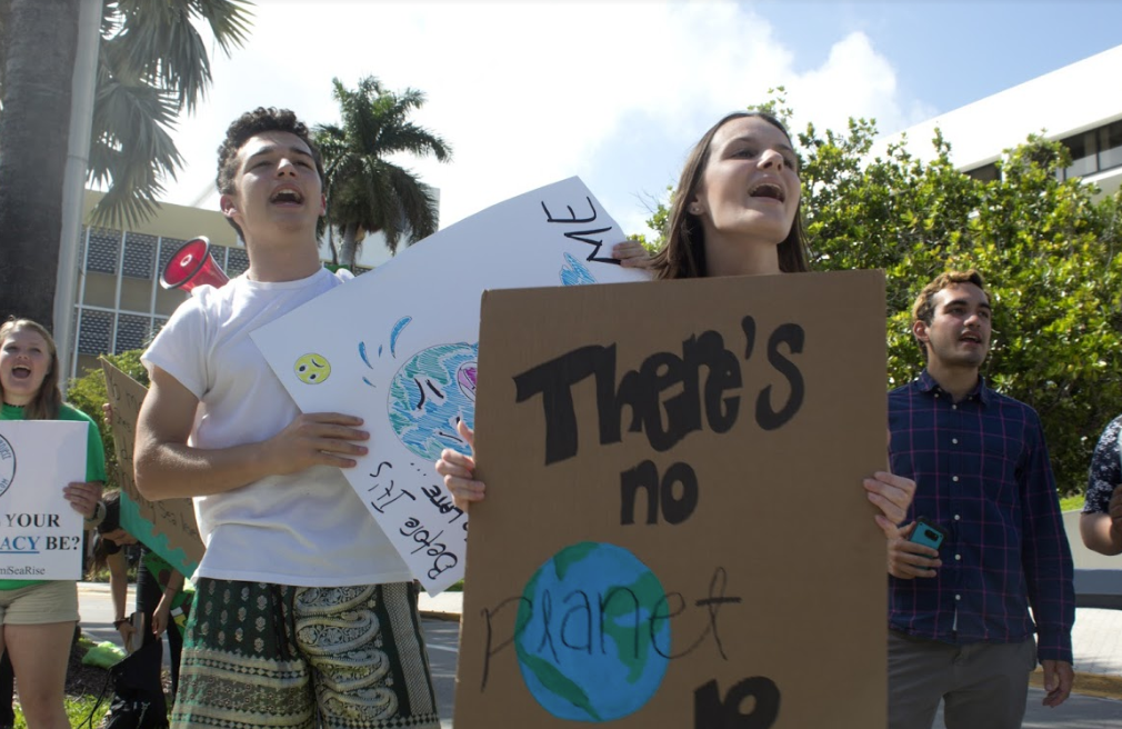 Students from MCDS took to the streets to protest in March of this year.