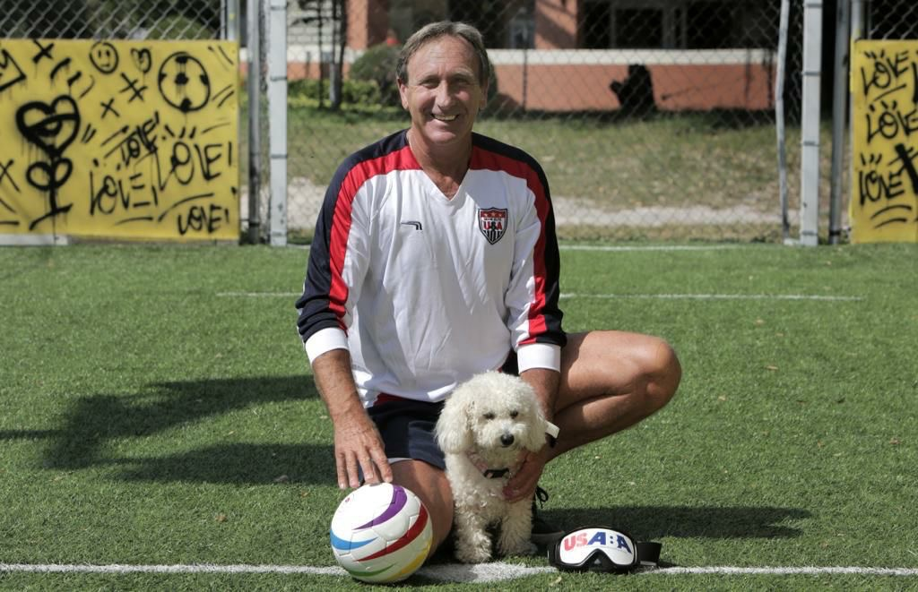 Blind coach and founder of Blind Warriors Soccer, Marcelo Landau, hopes to take a team to the Para-Olympics.