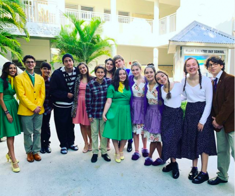 Both casts of Noises Off gave a sneak peak at their show for the Parents Association last week.