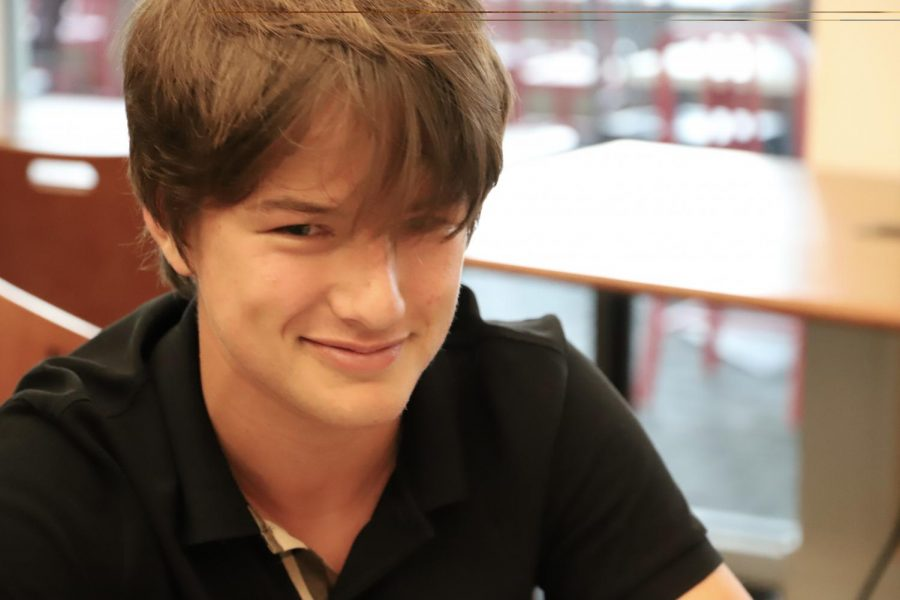 Noah Gaudet, team member of GoGreen-Sip, dedicated to developing biodegradable, tiered lids for cups.