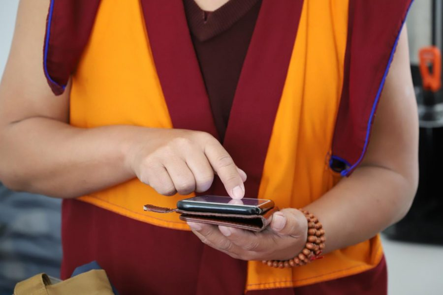 Even monks check their emails!