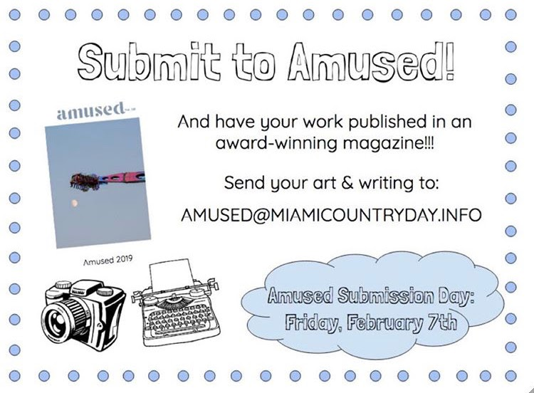 Amused Literary Magazine is now accepting submissions for this year's publication.