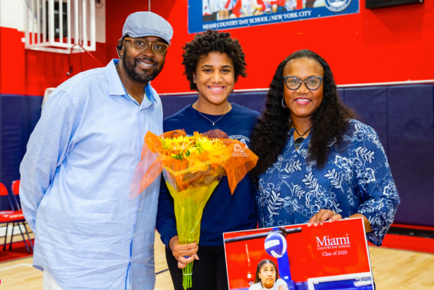 Rianna and family at Senior Night. Next stop: Mount Holyoke.