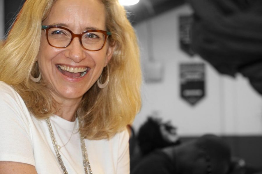 Head of School Mariandl Hufford rarely missed an opportunity to support her Spartans.