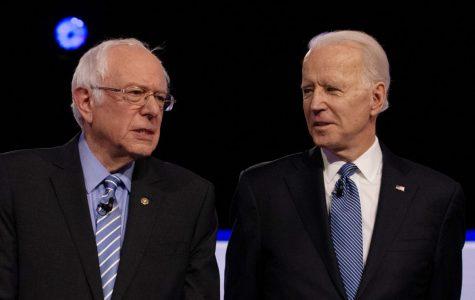 Democratic 2020 U.S. presidential candidates U.S. Senator Bernie Sanders and former Vice President Joe Biden February 25, 2020. REUTERS/Randall Hill