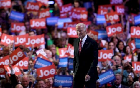Vice President Joe Biden on stage at the 2016 National Convention