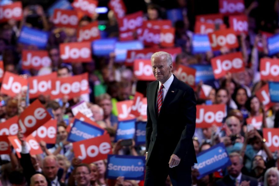 Vice+President+Joe+Biden+on+stage+at+the+2016+National+Convention
