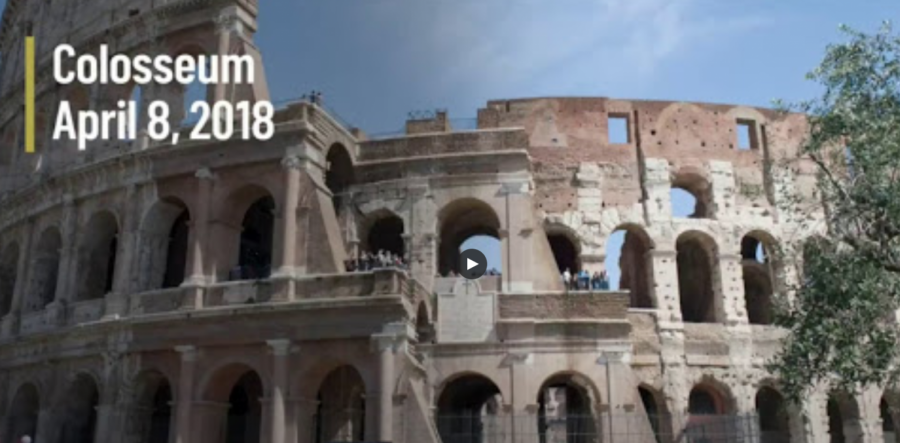 The Colosseum in 2018, full of people, one year before Corona.
