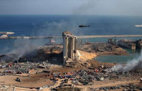 The port of Beirut and much of the city was left in ruins.
