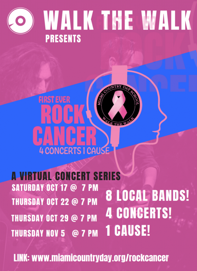 The first-ever Rock Cancer Concert Series premieres virtually on Saturday October 17 at 7pm.