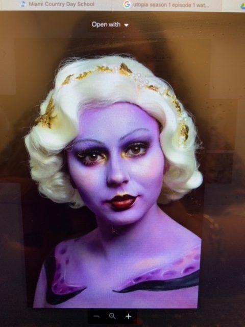 Crazy makeup, so professionally done!