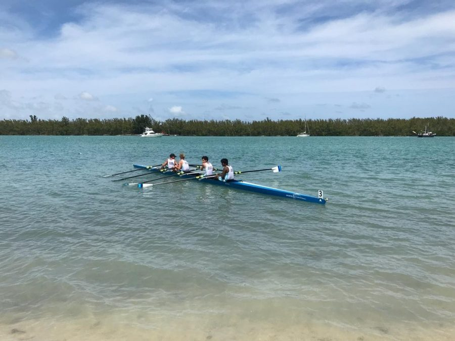 A quad docking at the 2019 Miami International Regatta after a race.
